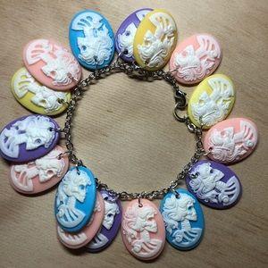 Jewelry - Skull cameo vintage contemporary bracelet charm